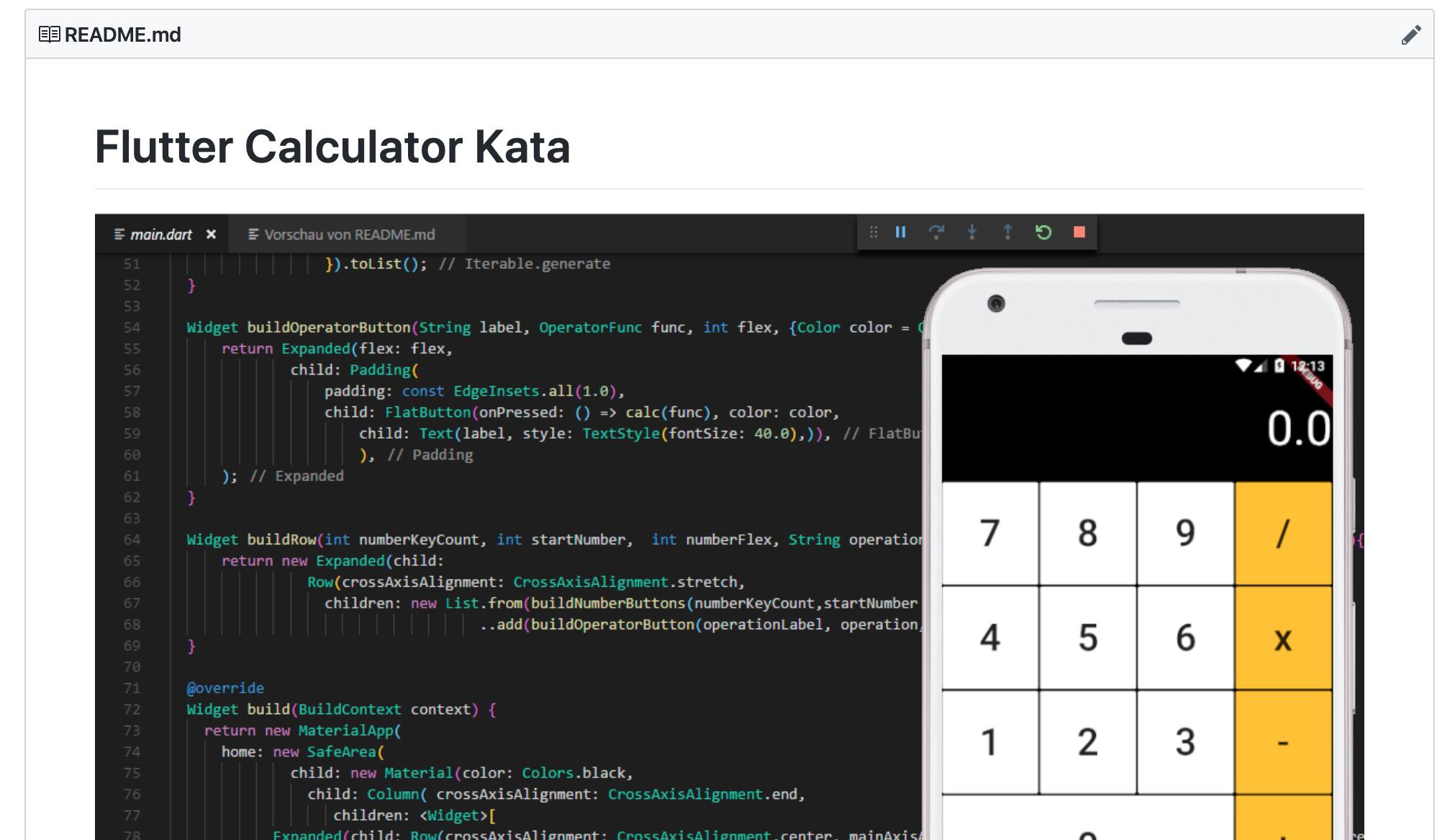 Kata – Calculator – Flutter